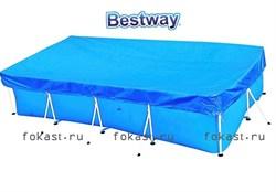 Тент для прямоугольных бассейнов 399х211см BestWay 58107 - фото 4588