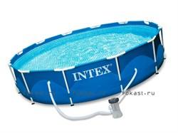 Каркасный бассейн Intex 28202 + фильтр-насос (305х76см) - фото 4665