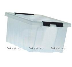 "Ящик пластиковый с крышкой ""RoxBox"" 36 л, прозрачный 500х390х250см - фото 4784"