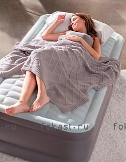 Надувная кровать INTEX 64412 Односпальная со встр. насосом 220В (99х191х46) - фото 4812