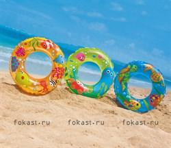 Надувной круг Transparent 61см, 6-10 лет. INTEX 59242 - фото 4981