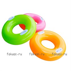 Надувной круг Hi-gloss 76см, от 8 лет, 3цвета, INTEX 59258 - фото 5055