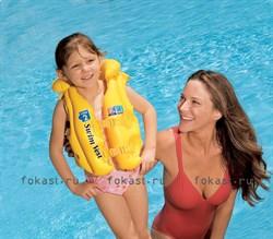 Надувной желтый желет, 3-6лет. INTEX 58660 - фото 5086
