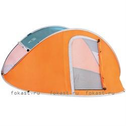 Палатка автомат четырехместная nucamp X4 (240x210x100) Водостойкая 2000 ммм.в.с. Bestway 68006 - фото 5179