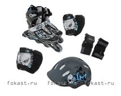 Набор: коньки ролик, защита, шлем р.34-37 PW-117С  - фото 5313