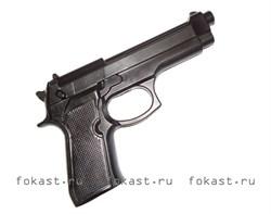 Пистолет тренировочный черный (макет) - фото 5364