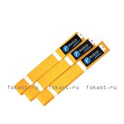 Пояс для кимоно 2,6м (желтый) - фото 6691