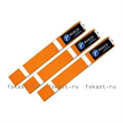 Пояс для кимоно 2,6м (оранжевый) - фото 6693
