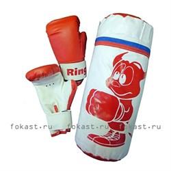 Набор боксерский НД-630 (мешок 30см, вес 1кг + перч 4унц) - фото 6746
