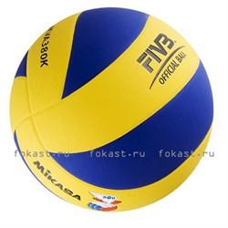 Мяч волейбольный MIKASA MVA380K р. 5, синт. кожа - фото 6818