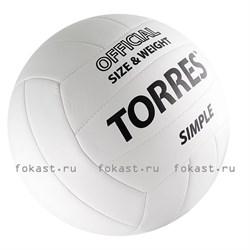 Мяч волейбольный TORRES Simple V30105, р.5, синт.кожа - фото 6823