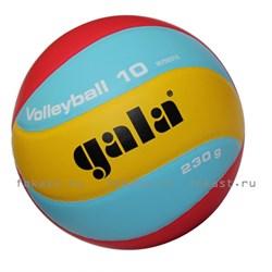 Мяч волейбольный GALA 230 Light 10 р. 5, синт. кожа - фото 6824