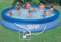 Надувной бассейн Intex 28158 +фильтр насос (457х84) - фото 7029