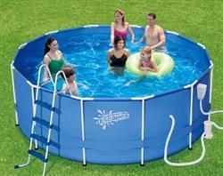 """Каркасный бассейн """"SummerEscapes"""" P20-1248-B+фильт насос, лестница, тент, подстилка, набор для чистки, скиммер (366х122) - фото 8026"""