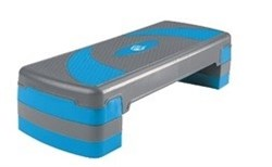 Степ-платформа 3-х уровневая 1810LW (79,5*30*20см, серый/голубой) - фото 8043