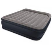 Кровать надувная двуспальная со встроенным насосом 220В 152х203х42см Intex 64136