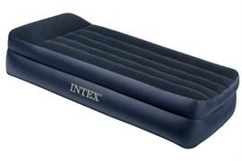 Кровать надувная односпальная со встроенным насосом 220В 99х191х42см Intex 64122