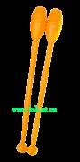 Булавы для художественной гимнастики У714, 35 см, оранжевые