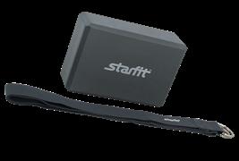 Комплект из блока и ремня для йоги STARFIT FA-104, серый