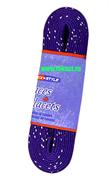 Шнурки для коньков с пропиткой W923, пара,2,44 м, фиолетовые Tex Style