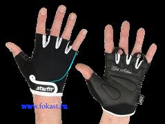 Перчатки для фитнеса STARFIT SU-111, черный/белый/розовый
