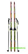 """Комплект лыж на (75мм) """"STEP"""" с насечкой Рост 175"""