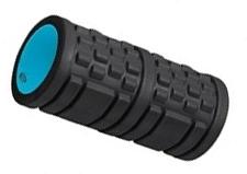 Ролик массажный 33х14см 6500LW, черный/голубой