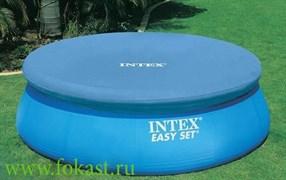 Тент для бассейна с верхним надувным кольцом (396 см) Intex 28026