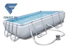 Прямоугольный каркасный бассейн Bestway 56629 + фильтр насос (282х196х84м)
