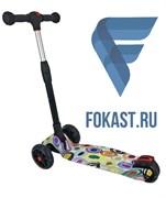 Самокат 4-х колесный SportElite SE610, граффити