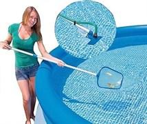 Набор для очистки бассейна (Насадка-пылесоc + сачок) Intex 28002