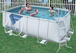 Каркасный бассейн Bestway 56241/56456 + фильтр-насос, лестница. (412х201х122см)