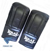 Перчатки тренировочные  REALSPORT  L, черный