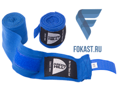 Бинт боксерский BP-6232c, 3,5м, эластик, синий Green Hill