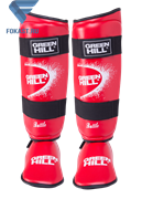 Защита голень-стопа Green Hill Battle SIB-0014, к/з, красная
