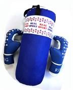 Набор боксерский REALSPORT МИНИ RS250, синий