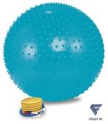 Мяч массажный 1865LW (65см, ножной насос, голубой)