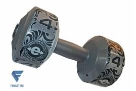 Гантель (корпус пластик) 4кг/шт, серебро ES-0378