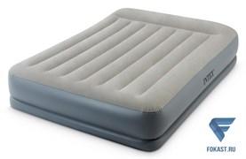 Двуспальная надувная кровать Intex 64118 (152х203х30)с насосом 220В.