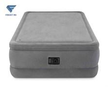 Двуспальная надувная кровать 64470 Intex с насосом 220В (152х203х51)