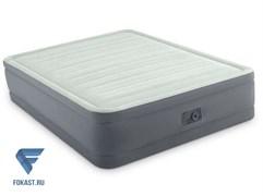 Надувная полутораспальная кровать с насосом Intex 64904 (137х191х46)