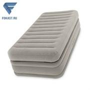 Надувная односпальная кровать со встр. насосом Intex 64444 (99х191х51)