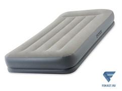 Надувная односпальная кровать Intex 64116 (99х191х30) со встроенным насосом 220В