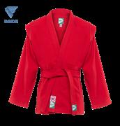 Куртка для самбо JS-302, красная, р.3/160