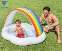Бассейн надувной детский с навесом Облако Intex 57141 (142х119х84 см)