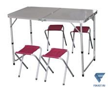 Набор для кемпинга (стол, 4 стула) IK-080