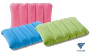 Подушка флокированная 43х28х9см, 3 цвета.