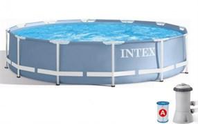 Каркасный бассейн Intex (366х76см) + фильтр-насос