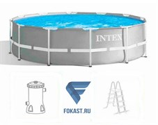 Каркасный бассейн Intex 26716 + фильтр-насос 2006 л.ч, лестница (366х99)
