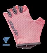 Перчатки для фитнеса SU-127, розовый/серый